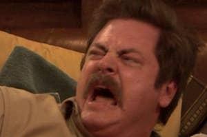 ron swanson screaming