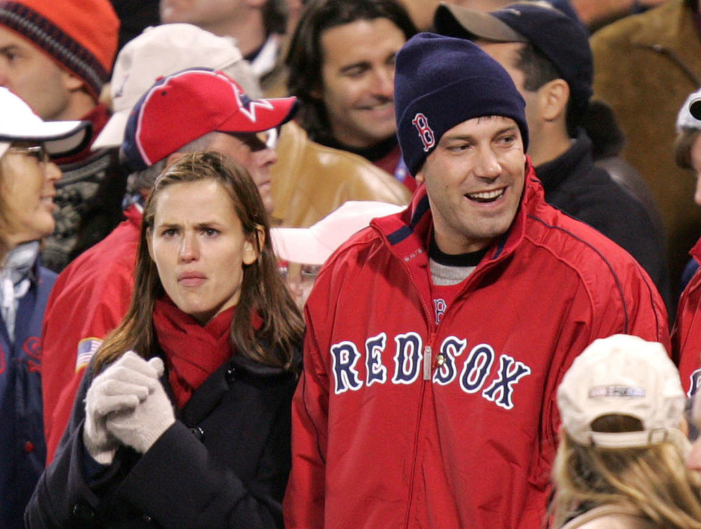 at a red sox game