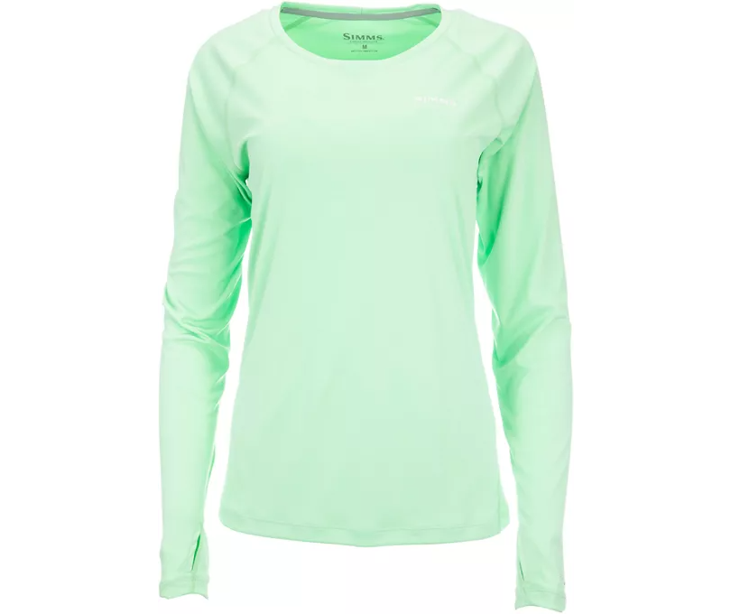 long-sleeved shirt with thumb loops for hands in mint color