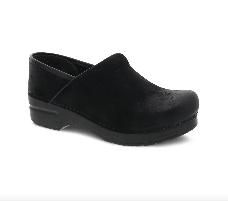 the pair of black Danskjo clogs