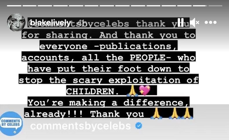 A screenshot of Blake thanking fans for their efforts so far