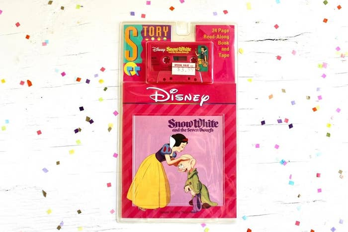 Snow White book on tape in packaging