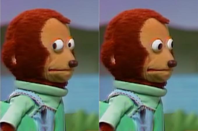 side-eye monkey meme