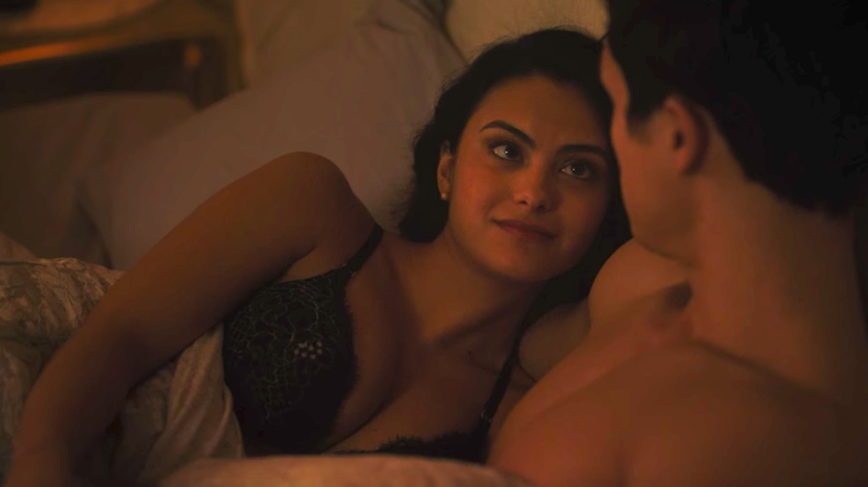 Veronica and Reggie from Riverdale in bed together