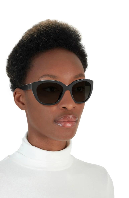 the Prada cat -ye sunglasses in black/ grey gradient