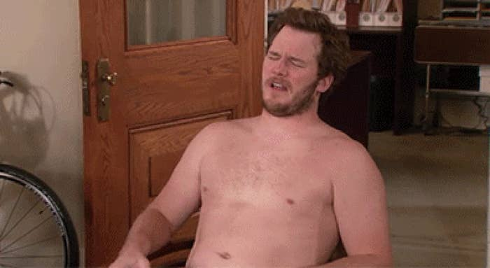 Andy Dwyer shirtless in parks and rec