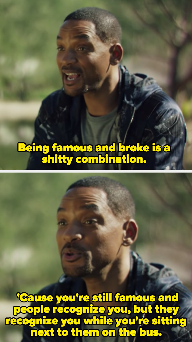 Will Smith talking about being broke and famous