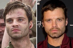 Sebastian Stan in Captain America: The First Avenger vs Sebastian Stan now