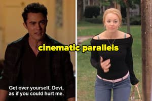 Paxton side by side Regina George with the caption