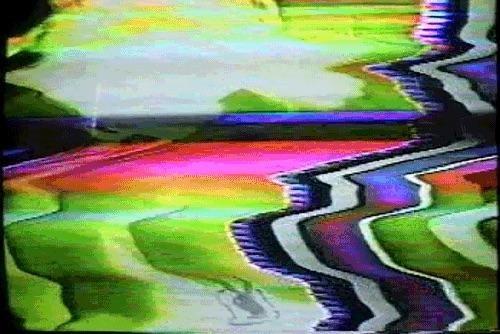 Scrambled image on a TV