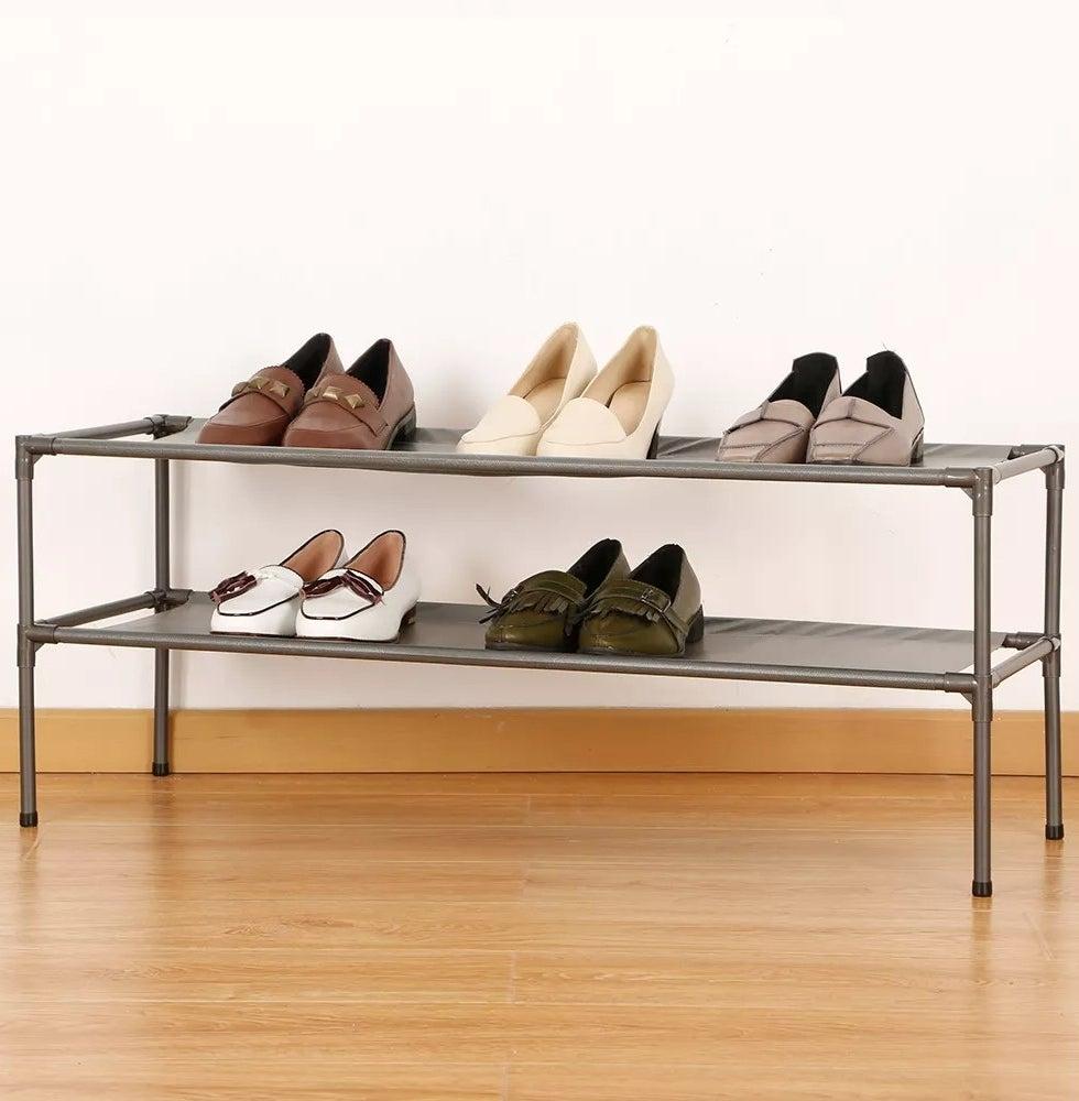 A shoe shelf