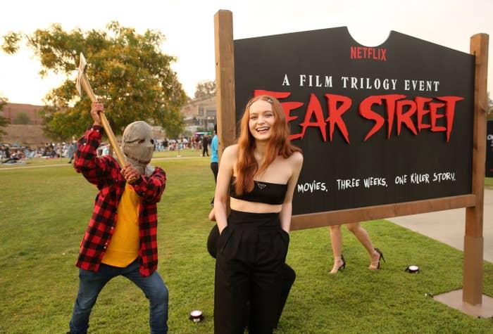 Sadie Sink at the premiere of Fear Street Part 1: 1994