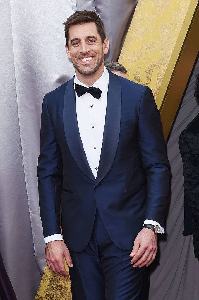 Aaron Rodgers attends the 88th Annual Academy Awards