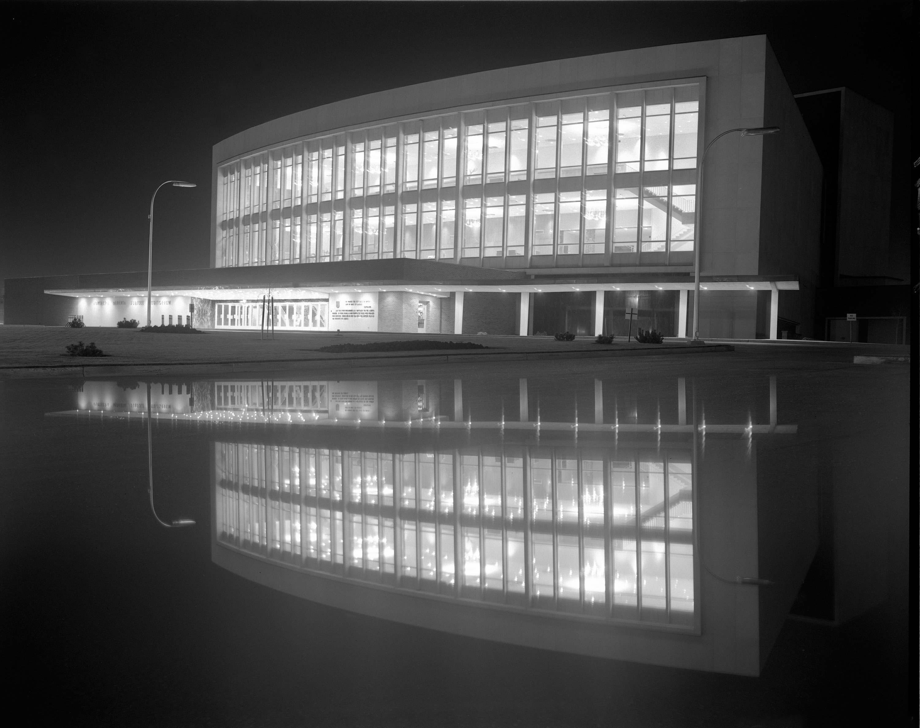 Mirrored Image of one of Alberta'a Jubilee Auditoria