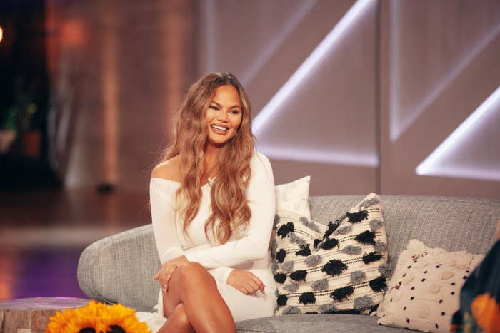 Chrissy Teigen is pictured during a guest appearance on The Kelly Clarkson Show