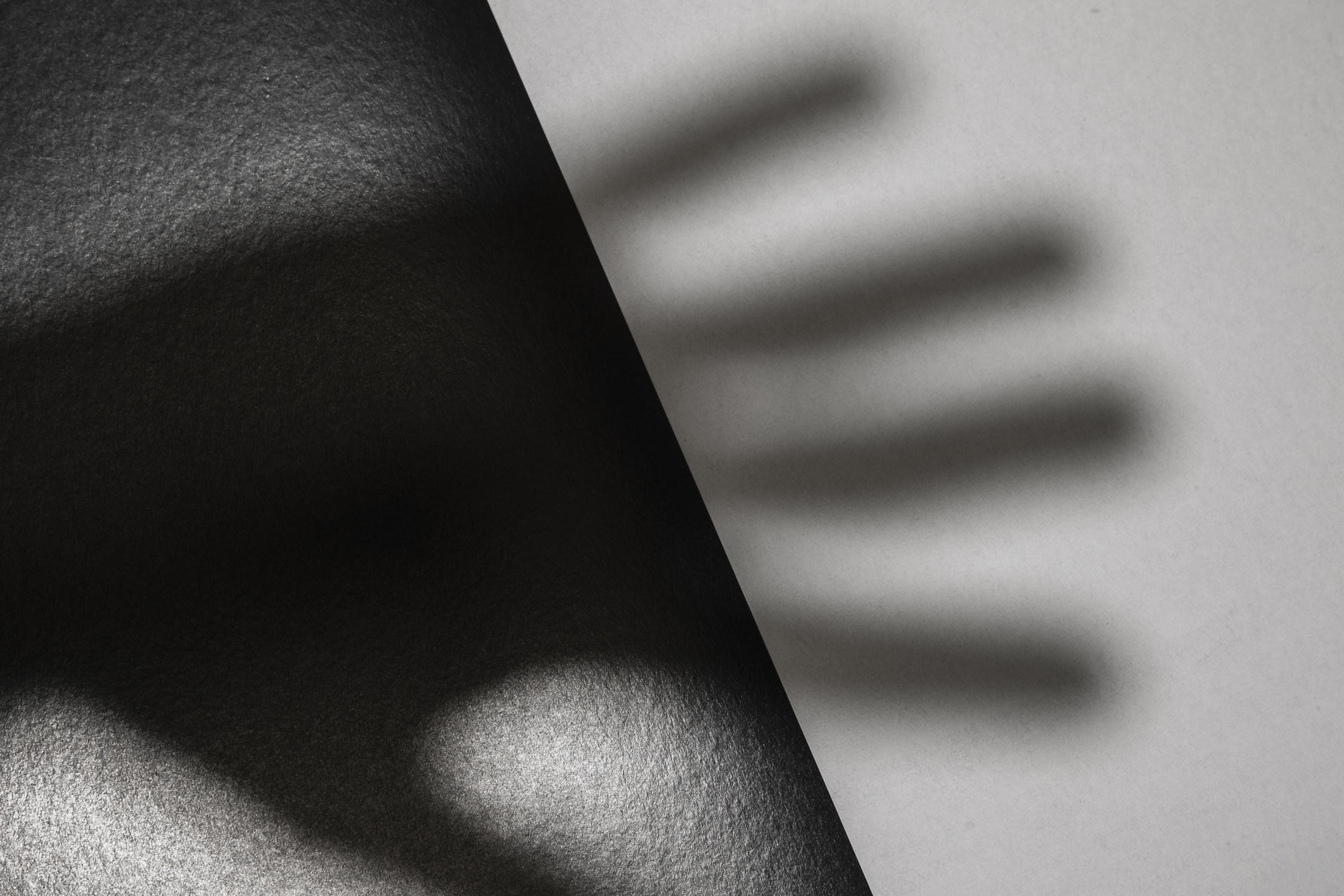 Creepy shadow of a hand