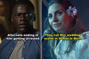 """Side-by-side of Chris in """"Get Out"""" and Ally in """"A Star Is Born"""""""