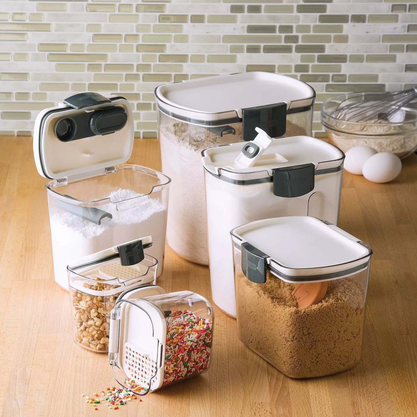 A set of food containers