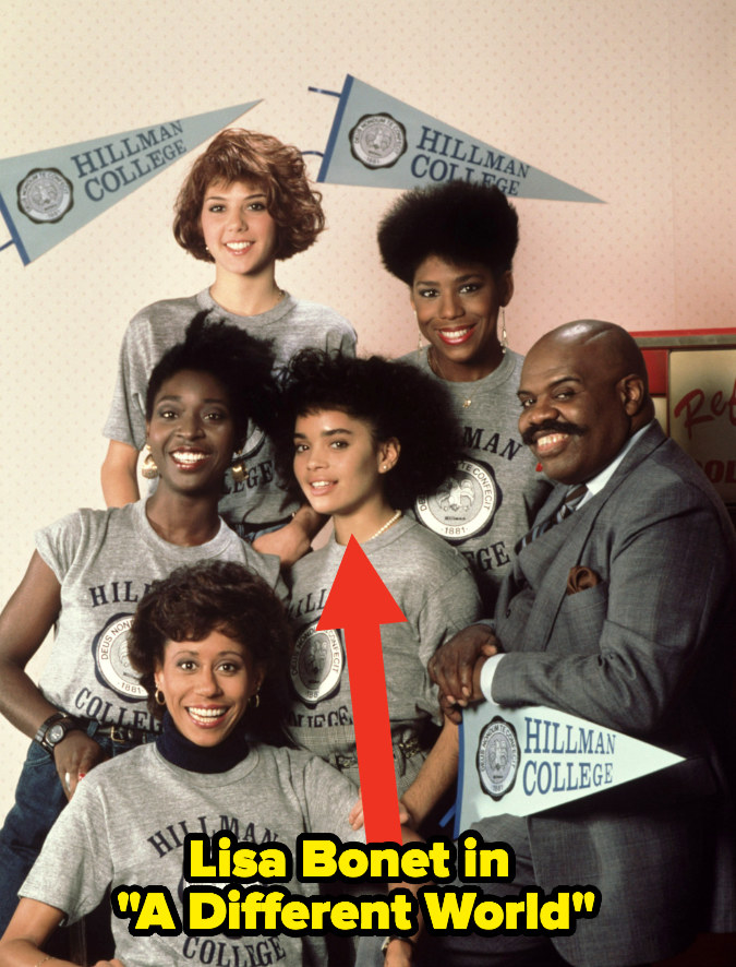"""Lisa Bonet with the cast of """"A Different World"""""""