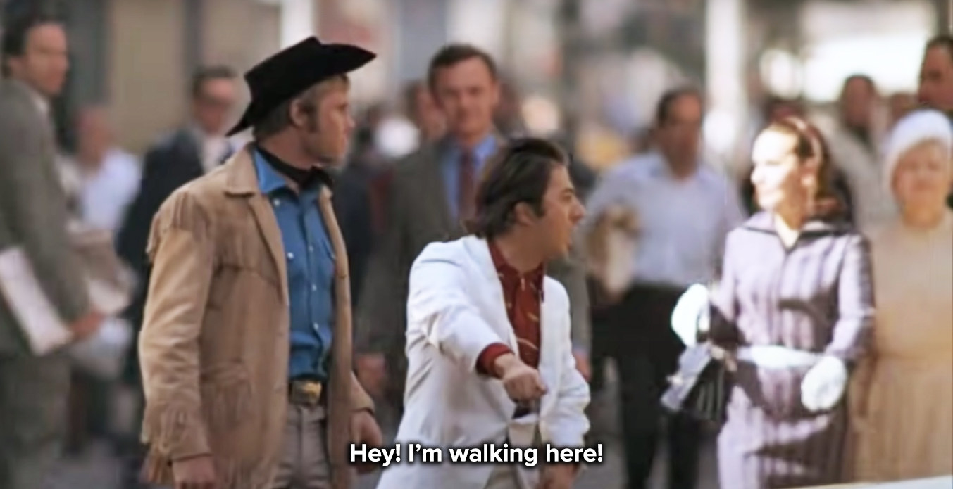I'm walking here