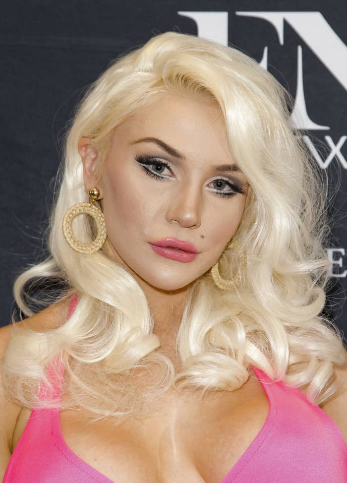 Courtney Stodden is photographed at a reality show premiere in 2019