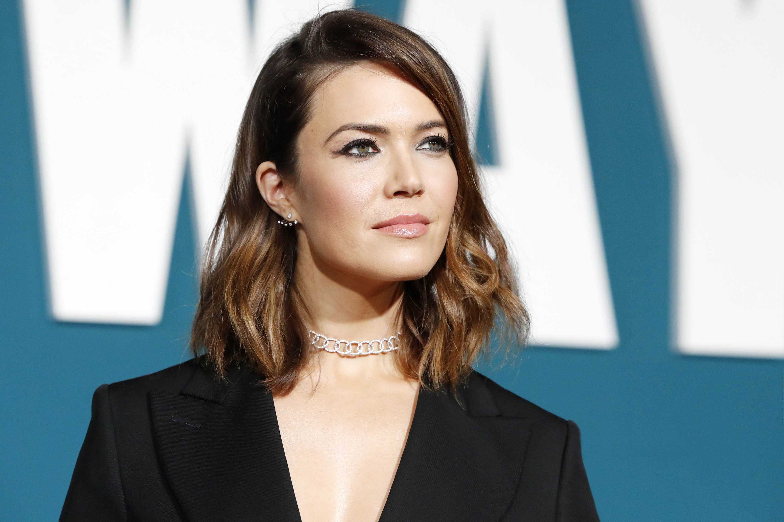 Mandy Moore attends a movie premiere in 2019