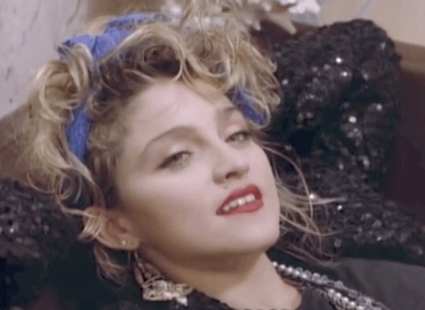 """Madonna in her """"Into the Groove"""" music video"""