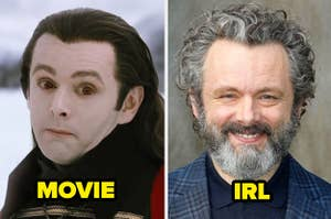 Michael Sheen with a bad wig and face paint on for Breaking Dawn Part 2 vs Michael Sheen IRL