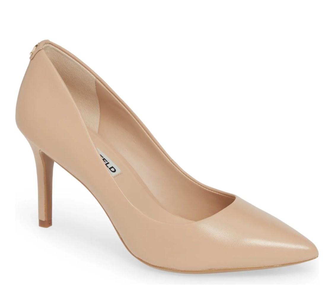 A nude pump shoe