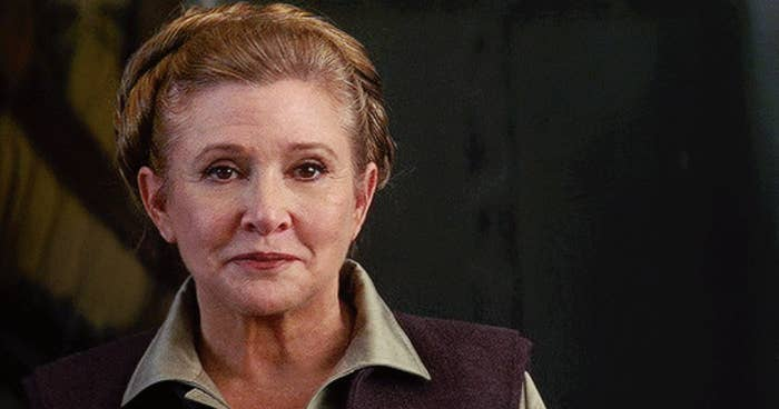 """Carrie Fisher in """"Star Wars: The Force Awakens"""""""