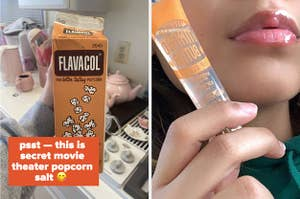 popcorn salt and lip gloss
