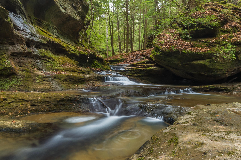 water basins and rocks
