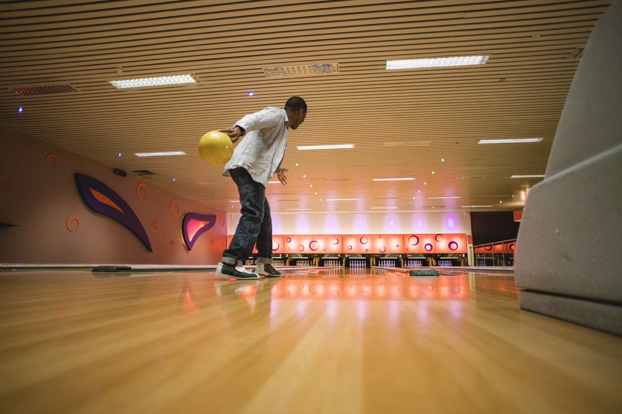 Man about to bowl