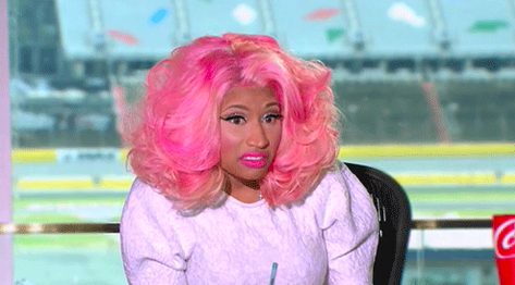 Nicki Minaj looking concerned