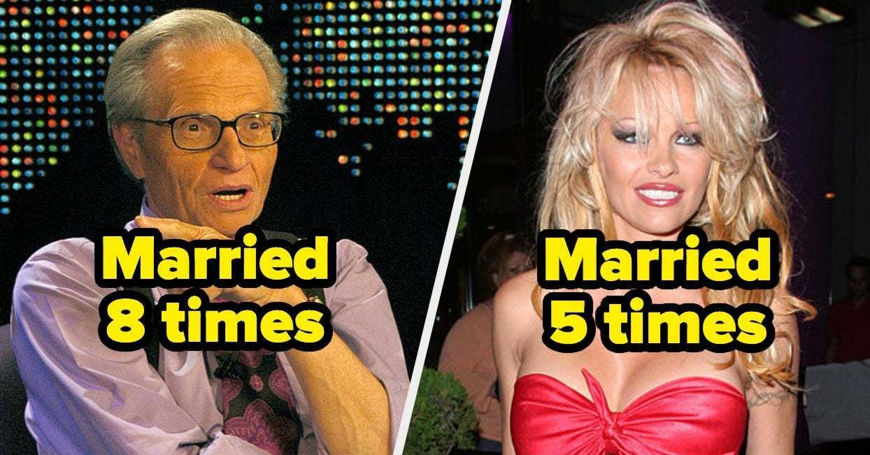 24 Celebrities Who've Been Married Three Instances Or Extra