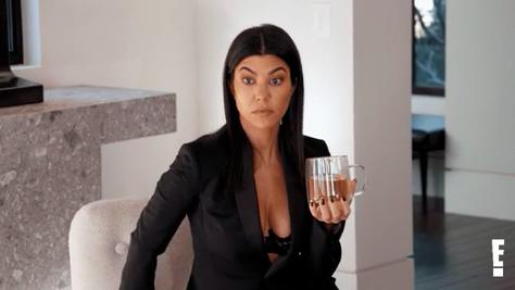 Kourtney Kardashian looking shocked