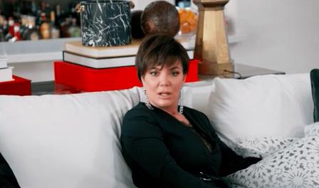 Kris Jenner looking slightly shocked