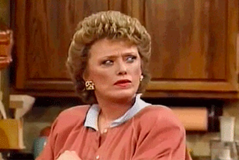 """Blanche from """"Golden Girls"""" looking confused"""