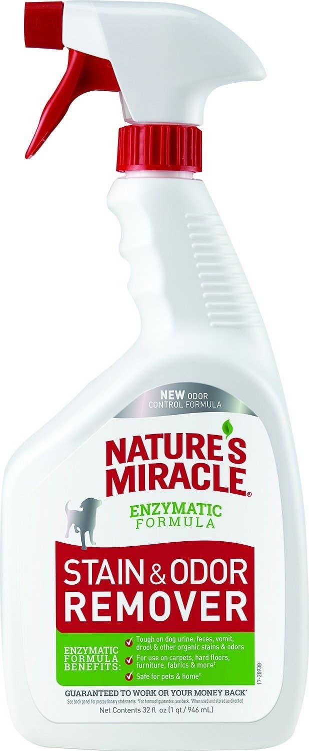 The bottle of Nature's Miracle