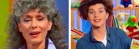 Left: Benita from Play School; Right: Monica from Play School