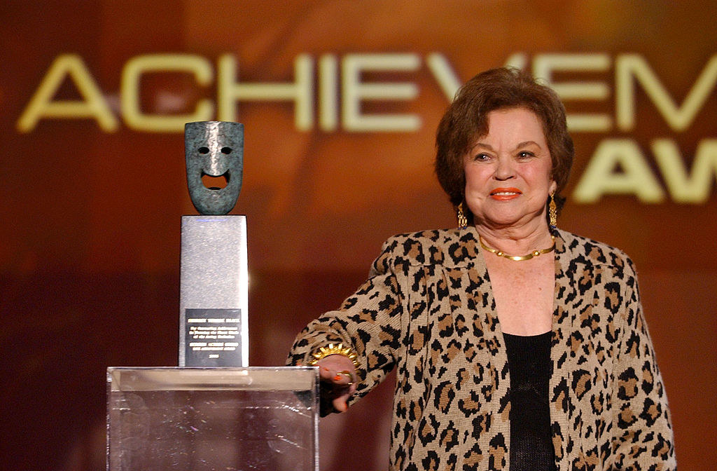An older Shirley Temple by a Screen Actors Guild Award