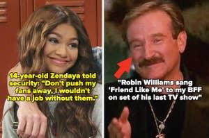 "Zendaya in ""K.C. Undercover;"" Robin Williams in ""The Birdcage"""