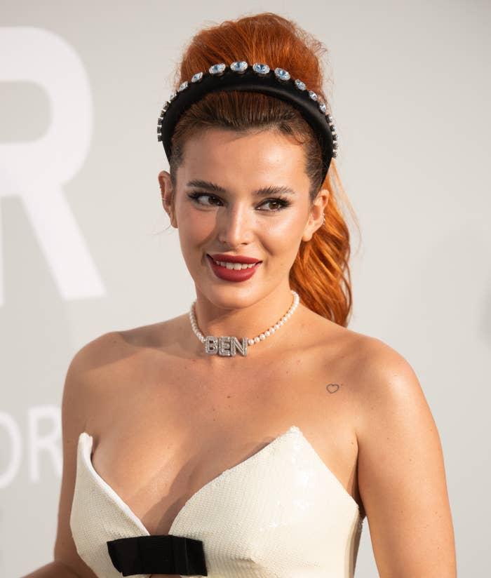 Bella Thorne attends the amfAR Cannes Gala in 2021