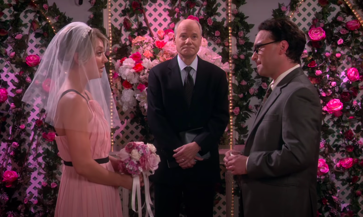Penny and Leonard elope