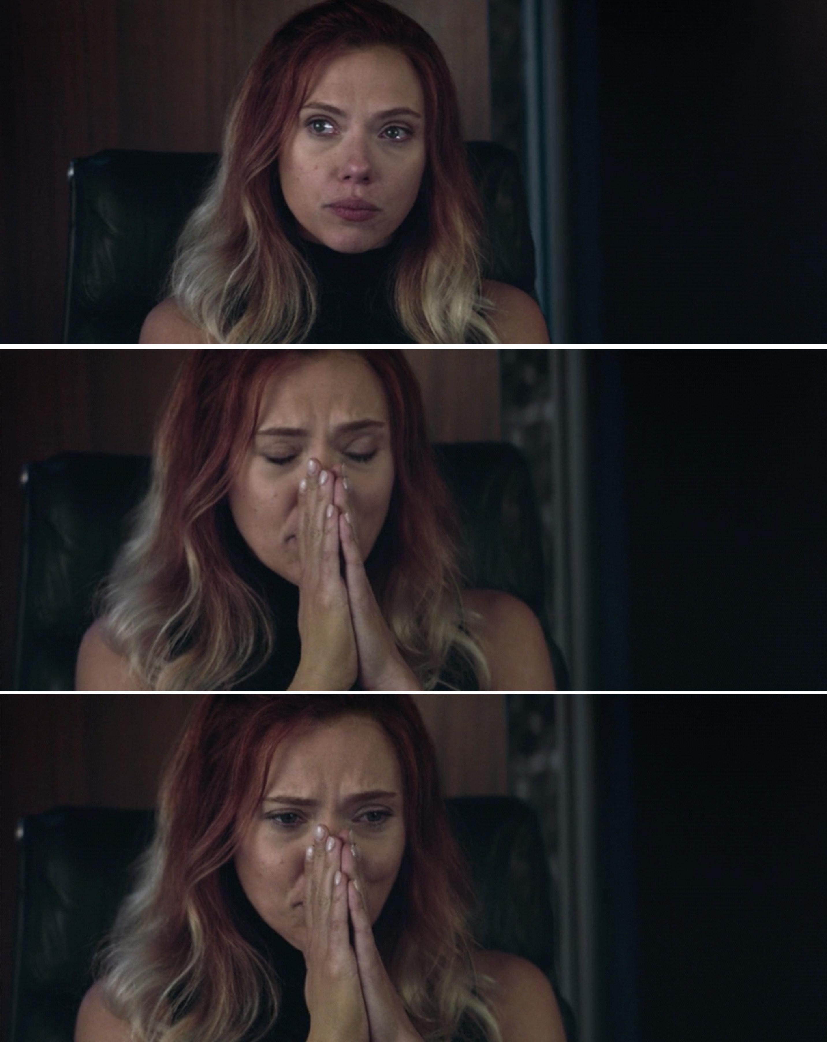 Natasha crying
