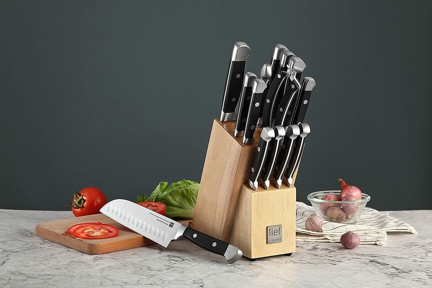 the 15 piece kitchen knife set