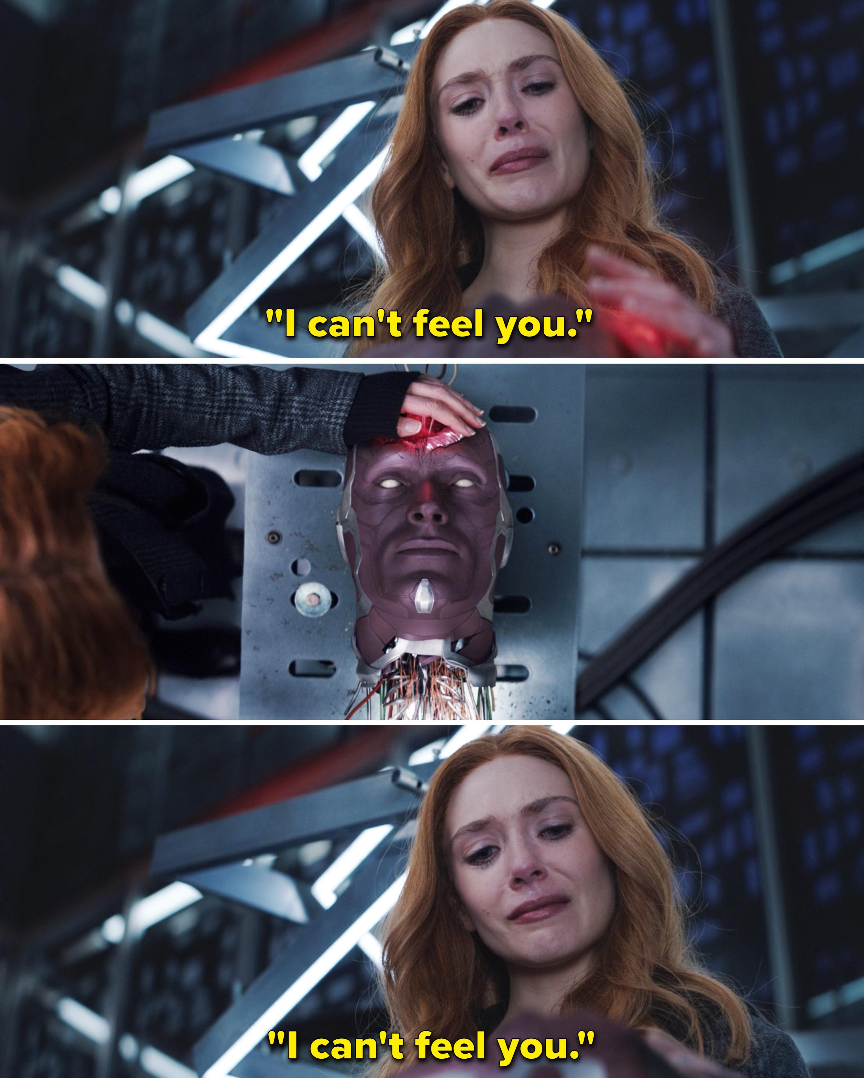 """Wanda repeating, """"I can't feel you"""""""
