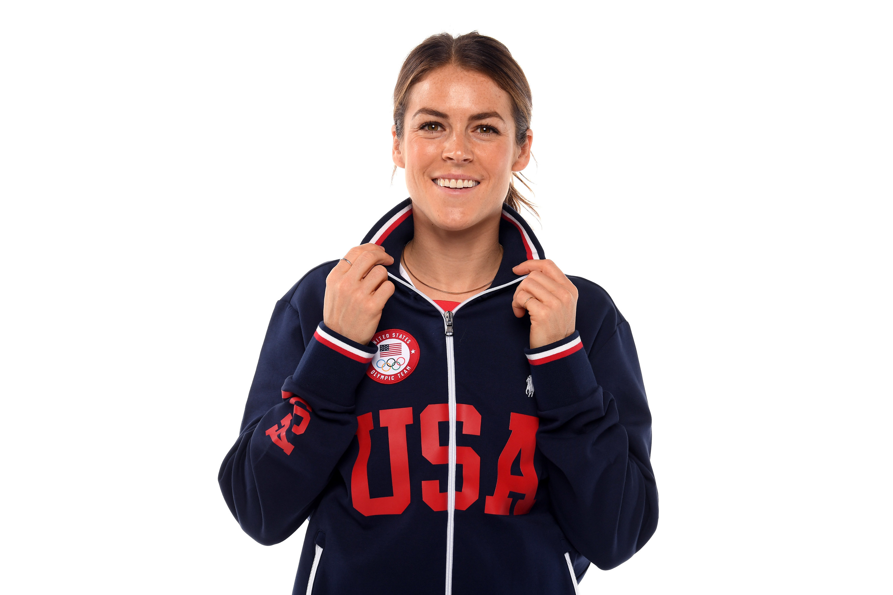 Kelley posing for a World Cup portrait