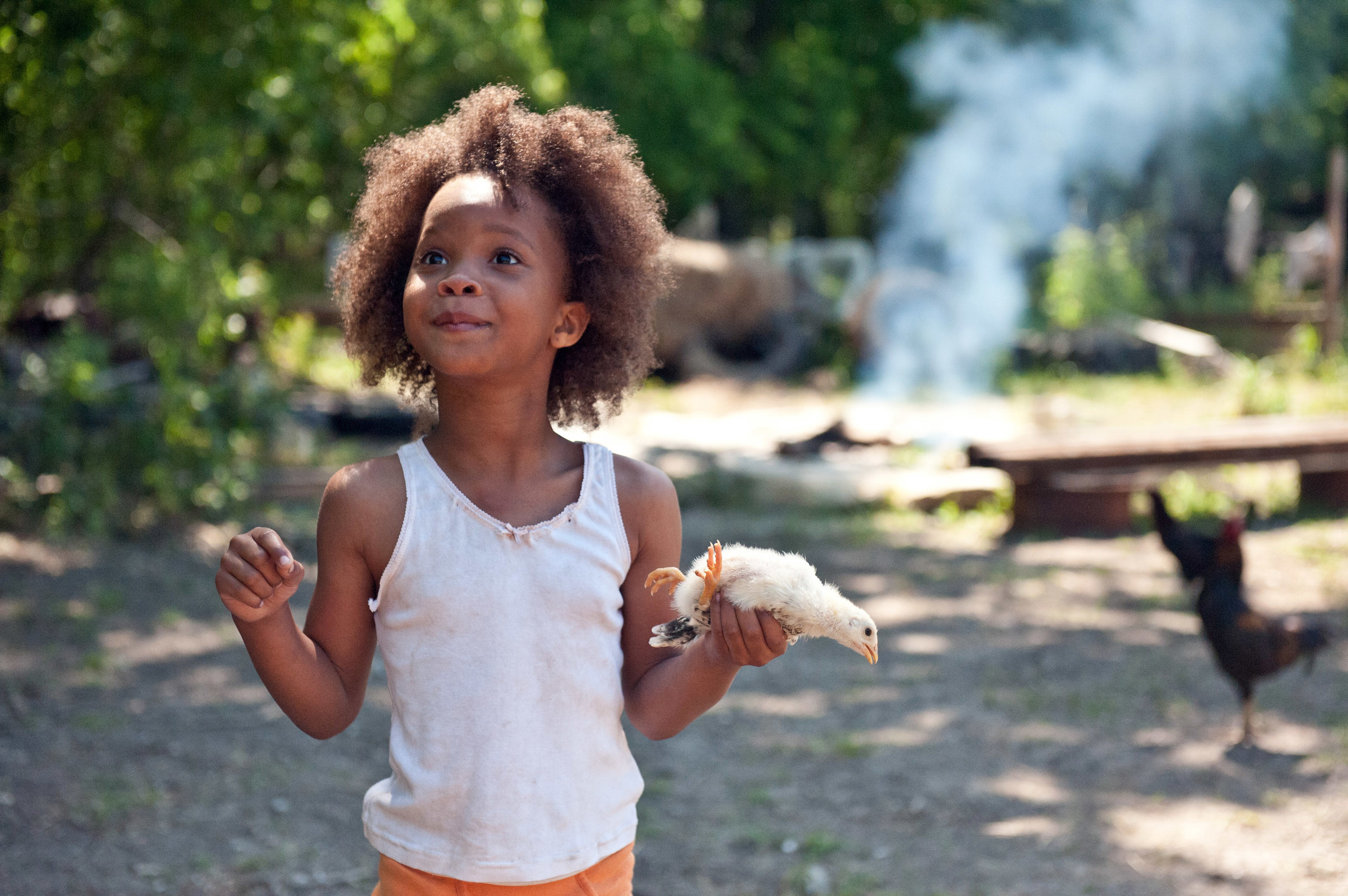 Quvenzhané as Hushpuppy in Beasts of the Southern Wild