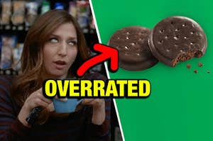 Chelsea Peretti rolling her eyes at thin mints